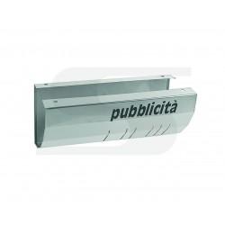 CASSETTA PORTAPUBBLICITA' E GIORNALI INOX SERENISSIMA    11-017