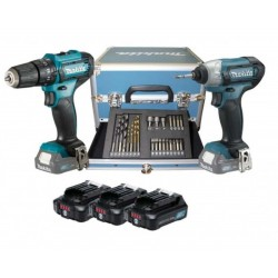MAKITA KIT AVVITATORE HP333 E AVVITATORE TD110 12V 2,0AH LITIO 3 BATTERIE CLX228SAX2