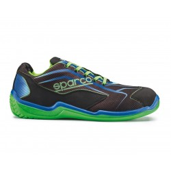 SPARCO SCARPA ANTINFORTUNISTICA TOURING LOW S1P NERA-VERDE