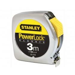 STANLEY FLESSOMETRO CROMATO POWERLOCK MT. 3 MM.12,7